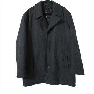 London Fog Wool Blend Gray Coat Single Button XL